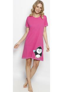 Camisola Pinguim - Pink & Brancapuket