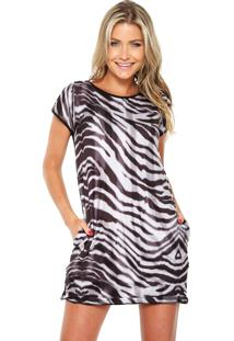 Vestido Thamaliz Neoprene Zebra