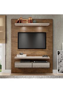 Painel Para Tv Tb106E 100% Mdf Nobre/Fendi Com Espelho - Dalla Costa