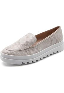 Slipper Beira Rio Cobra Off-White