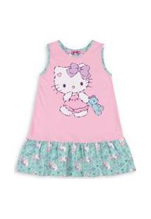 Camisola Bebê Hello Kitty - Feminino-Rosa