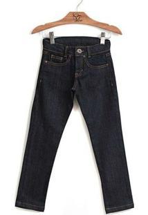Calça Jokenpô Infantil Jeans Skinny Dark - Feminino