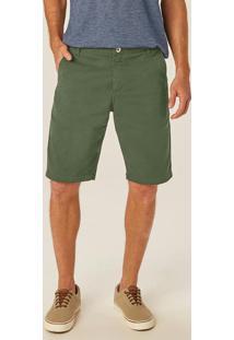 Bermuda Verde Slim Em Sarja