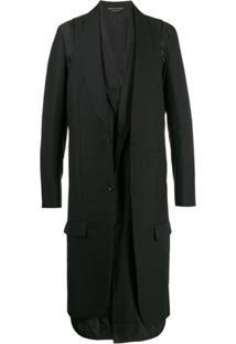 Comme Des Garçons Homme Plus Casaco Oversized Abotoamento Simples - Preto
