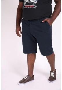 Bermuda Kauê Plus Size Color Confort Masculina - Masculino-Azul Petróleo