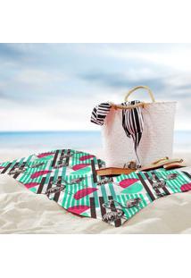 Toalha De Praia / Banho Flamingos Verão Fun