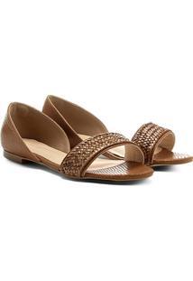 Sapatilha Couro Shoestock Trança Feminina - Feminino