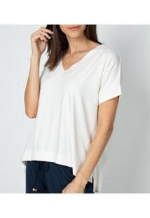 Camiseta Liz Easywear Manga Curta Feminina - Feminino-Off White