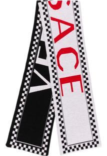 Versace Cachecol Team Com Logo - Preto