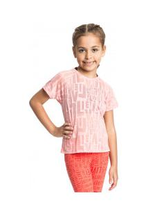 Camiseta Live See Feminina - Infantil - Rosa Claro