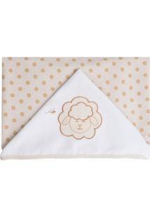Toalha De Banho Com Capuz Ovelha- Bege Claro & Branca