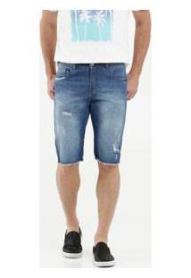 Bermuda Masculina Jeans Destroyed Razon