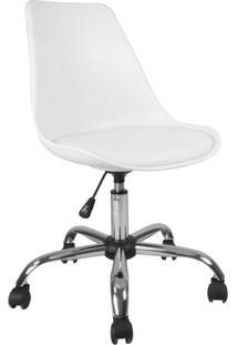 Cadeira De Escritório Secretária Giratória Eames Branca