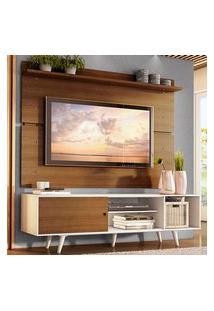 Rack Madesa Dubai E Painel Para Tv Até 65 Polegadas Com Pés Branco/Rustic 9B6E Branco