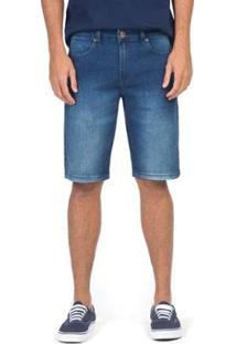 Bermuda Jeans Cós Médio Stone Masculino - Masculino-Azul