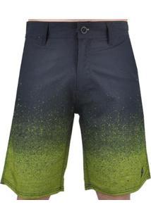 Bermuda O'Neill Hyperfade Masculina - Masculino-Preto+Verde