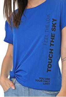 Camiseta Dimy Lettering Azul - Kanui