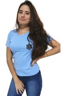 Camiseta Feminina Cellos Vertical Signature Premium Azul Claro