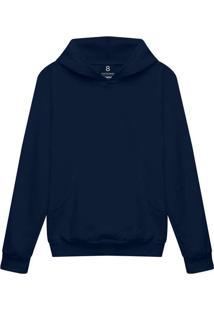 Blusa Moletom Infantil Com Bolso E Capuz Azul