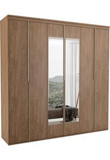 Guarda-Roupa Casal Com Espelho Sonhare Ll 6 Pt Ébano