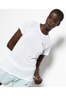 Camiseta Running Filaâ® - Branca & Pretafila