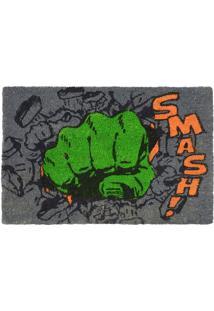 "Capacho Hulkâ® ""Smash!""- Cinza Escuro & Verde- 1,5X61Mabruk"