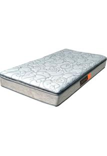 Colchão Solteiro Pillow Top Active Premium Extra Firme- Pelmex - Branco / Silver