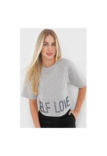 Camiseta Morena Rosa Self Love Cinza