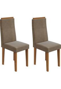 Conjunto Com 2 Cadeiras Dafne Rovere E Marrom