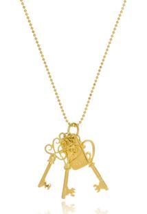 Colar Le Diamond Chaves Dourado