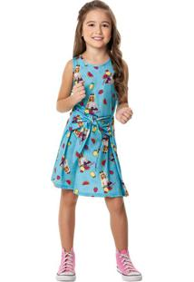 Vestido Curto Barbie® Menina Malwee Kids