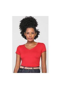 Camiseta Enfim Lisa Vermelha