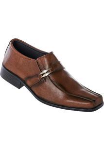 Sapato Social Masculino Marrom Ajuste Elástico