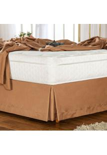 Saia Para Cama Box Queen Soft Touch Café