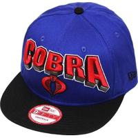 Boné New Era Aba Reta Snapback G.I. Joe Cobra Hero Block - Unissex cd5fcd852ce