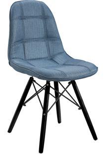 Cadeira Em Mdf/Mdp 1114-Or Design - Azul / Preto