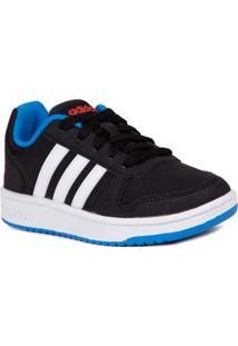 04737966766 Tênis Casual Adidas Infantil Para Menino - Preto Branco Azul