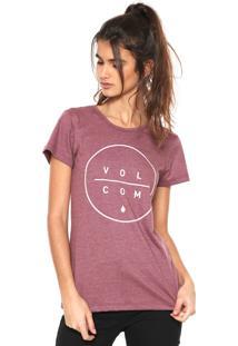 Camiseta Volcom Barrel Out Vinho