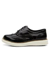 Tênis Oxford Leticia Alves 300 Preto Verniz