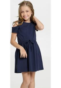 Vestido Infantil Open Shouder Textura Marisa