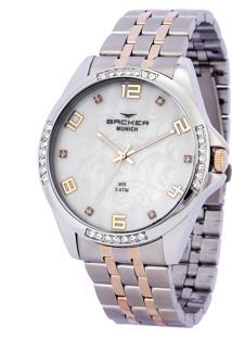 Relógio Analógico Backer Feminino - 3943134F Prateado