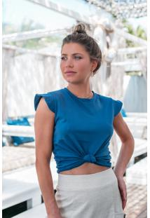 T-Shirt Valentina Azul Petroleo