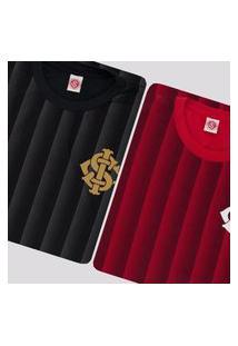 Kit De 2 Camisas Internacional Ruy Vermelha E Preta