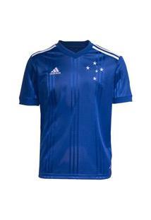 Camisa Adidas Cruzeiro Oficial I 2020 Infantil