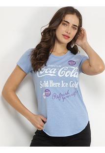 Camiseta Coca-Cola Refresh Yourself Feminina - Feminino-Azul Royal