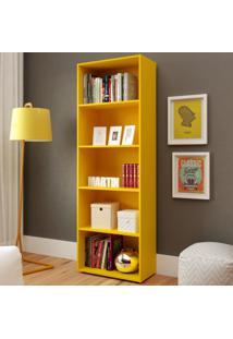Estante Para Livros Multy 4 Prateleiras Amarelo - Artely