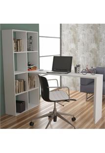 Mesa Para Computador Escrivaninha Be 38 Branco - Brv Móveis