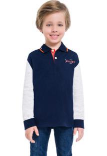 Camisa Polo Infantil Masculina Marinho