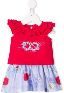 Lapin House Vestido Godê Com Contraste - Rosa