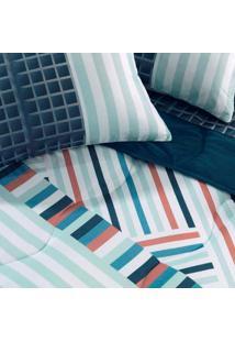 Jogo De Cama Solteiro New Confort Business 140X235 - Altenburg - Azul